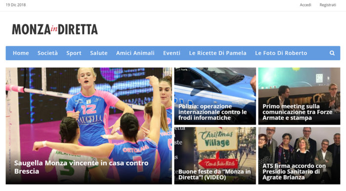 Siti internet Monza in diretta